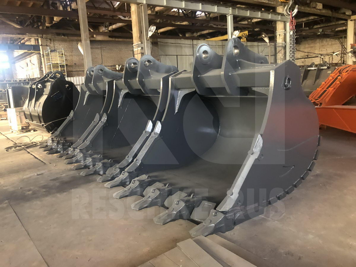 3 VOLVO EC 750 rock buckets ready to leave to Siberia! - Фотография 1